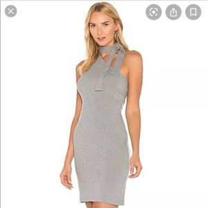 Nordstrom 1state gray bodycon ribbed dress